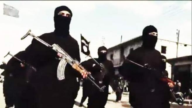 Combatientes de Estado Islámico.