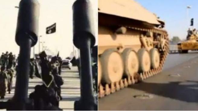 Imágenes de Estado Islámico difundidas sobre su arsenal.