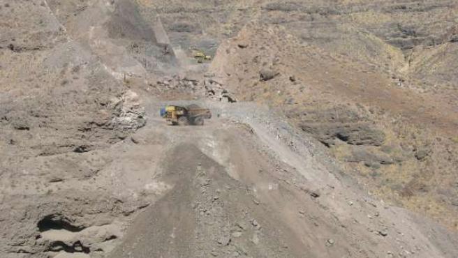 Obras de la carretera de La Aldea