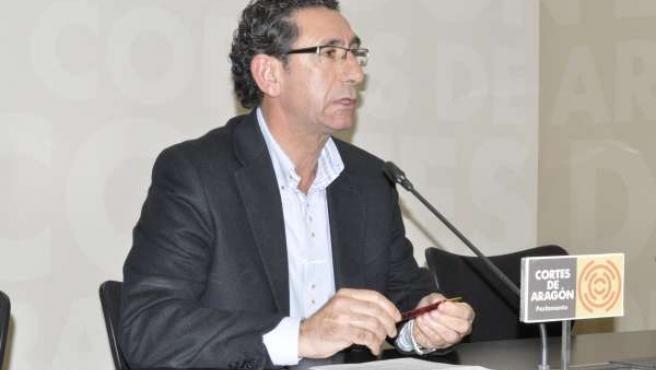 El diputado del PAR en las Cortes de Aragón, Joaquín Peribáñez