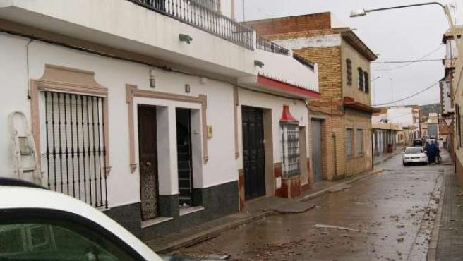 Operativos de la Guardia Civil en Puerto Serrano tras la agresión a un agente