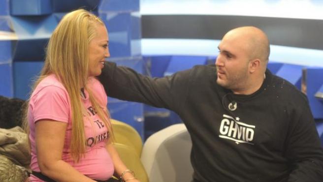 Belén Esteban y Kiko Rivera en 'Gran Hermano VIP'.