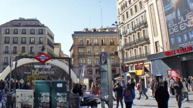 Plaza de Callao, en Madrid.