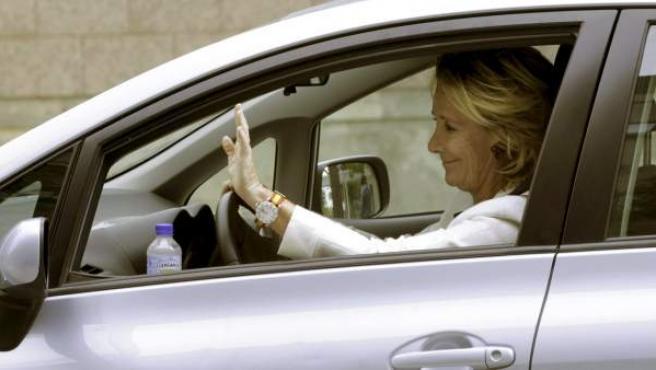 Fotografía de archivo de la presidenta del PP de Madrid, Esperanza Aguirre.