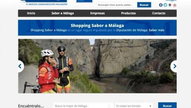 Web shopping plataforma online sabor a málaga