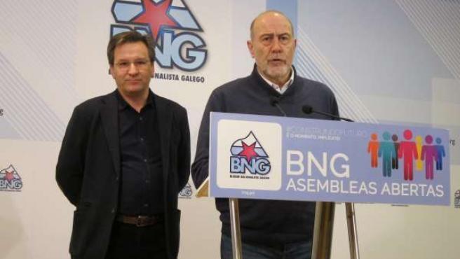 Xavier Vence y Francisco García (BNG)