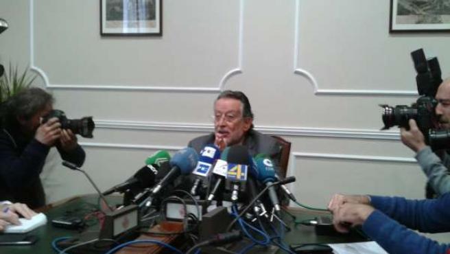 Alfonso Grau durante la rueda de prensa