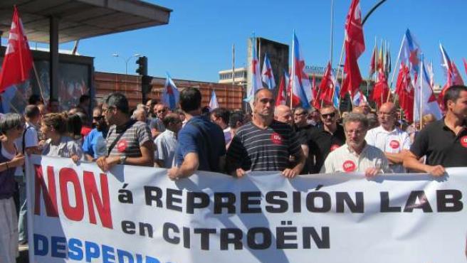 Manifestación de trabajadores de Citroën