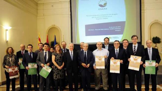 La DGA ha premiado a 14 empresas por su excelencia medioambiental