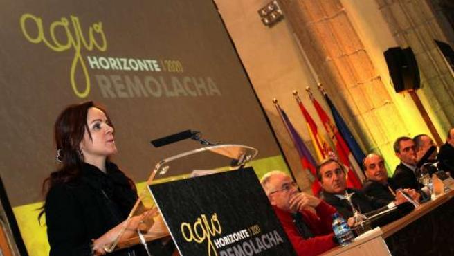 La consejera de Agricultura y Ganadería, Silvia Clemente