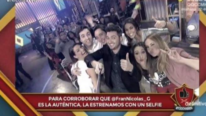 Selfie de Francisco Nicolás en 'Todo va bien' (Cuatro).