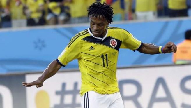 Juan Cuadrado con la selección de Colombia.