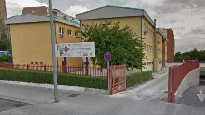 Imagen de Google Maps del Colegio Público León Felipe, de Leganés.