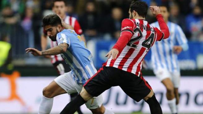 Samuel y Balenziaga en el Málaga - Athletic.