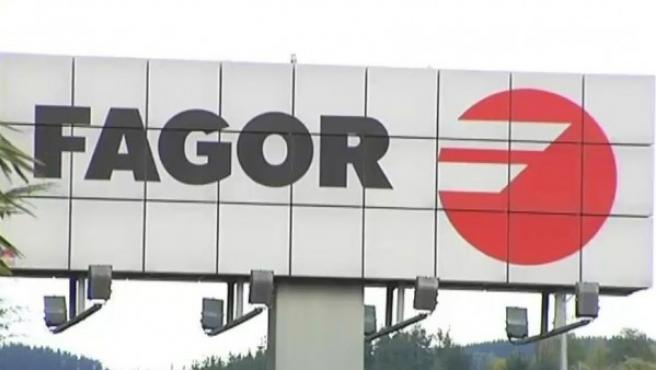 Cartel de la empresa Fagor.
