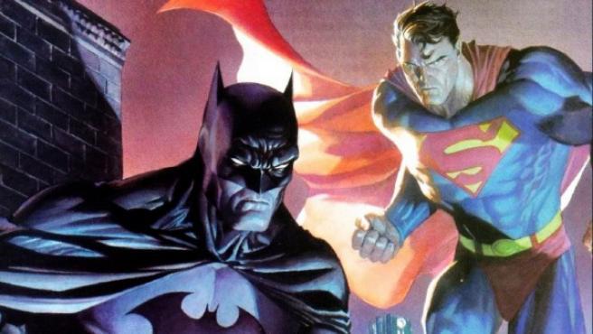 Ilustración de Batman y Superman.