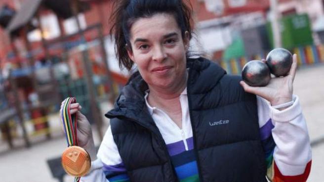 Yolanda Matarranz se ha impuesto en categoría individual en el Mundial de Petanca de Niza (Francia).