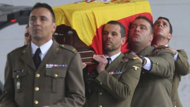 Entierro del cabo muerto en Líbano Francisco Javier Soria Toledo.
