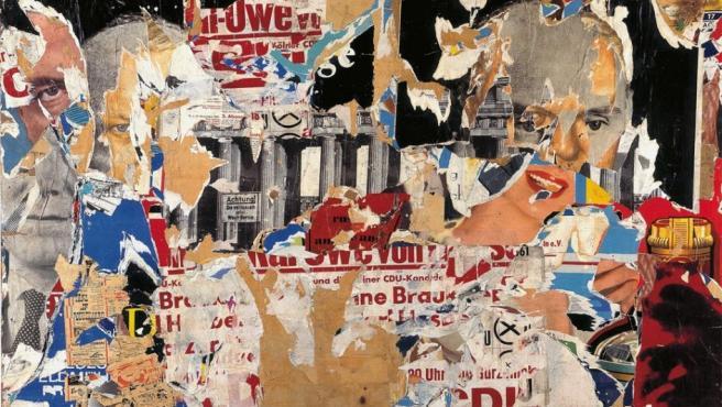 'Su candidato' (1961), 'décollage' del alemán Wolf Vostell