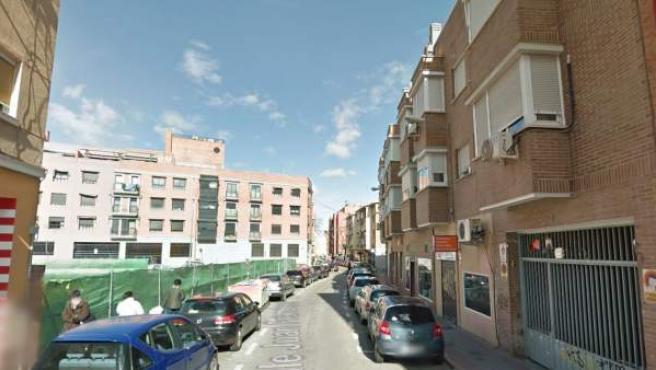 Vista de la calle Juan Francisco del barrio madrileño de Carabanchel.