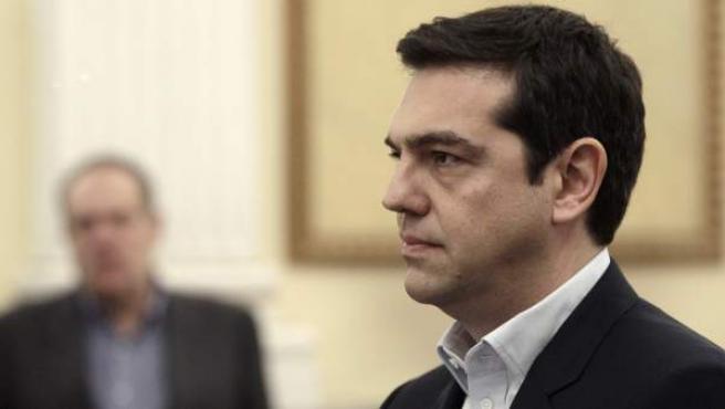 El líder de Syriza, Alexis Tsipras, tras jurar como nuevo primer ministro griego en Atenas, Grecia.