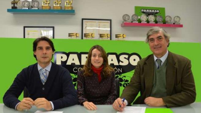 José Arribas y María del Barco, de Parnaso y Cristóbal Alvear, de Catsa.