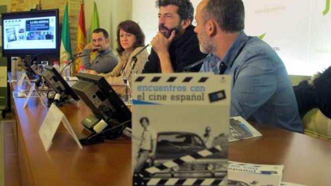 Arévalo, Shaw, Rodríguez y Gutiérrrez en la presentación de 'La isla mínima'.