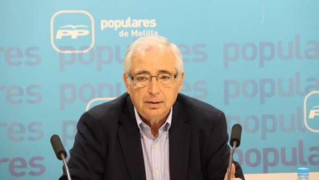 El presidente del Melilla, Juan José Imbroda