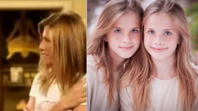 Noelle y Cali Sheldon interpretaron a la pequeña Emma en 'Friends'.