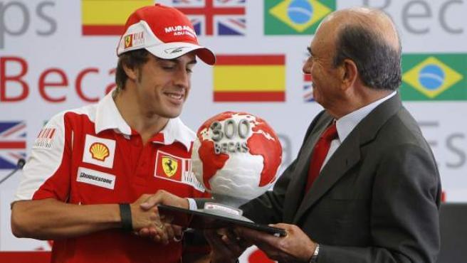Fernando Alonso y Emilio Botín, en una foto tomada en junio de 2010.