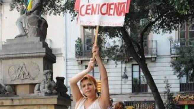 Una manifestación organizada por el Colectivo de Putas Indignadas para reivindicarse.