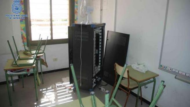 Uno de los colegios donde se cometieron los robos