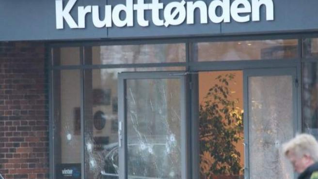 Fachada del centro cultural Krudttønden de Copenhague, donde se produjo un tiroteo cuando se estaba celebrando una conferencia sobre libertad de expresión y religión.