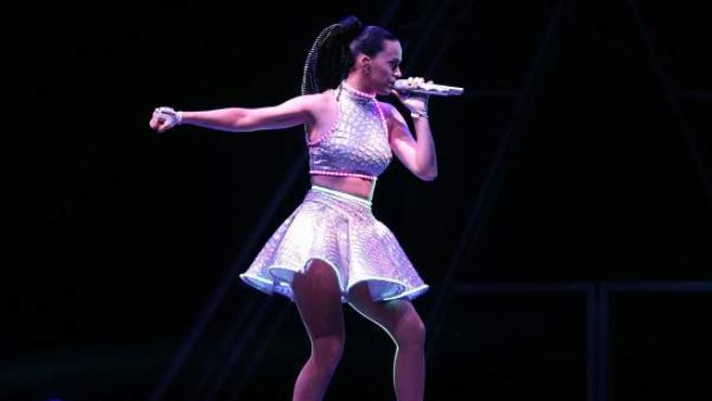 La cantante estadounidense Katy Perry durante el concierto ofrecido en el Palau Sant Jordi de Barcelona,