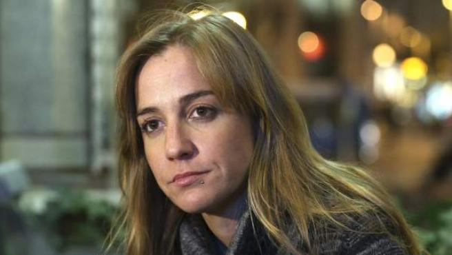 La excandidata autonómica de IU, Tania Sánchez, durante una entrevista.