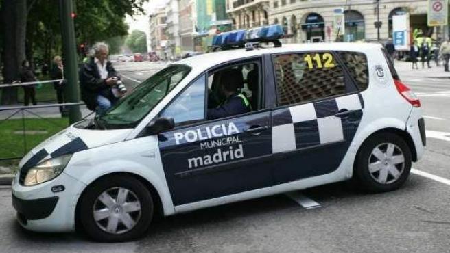 Un coche de la Policía Municipal de Madrid.