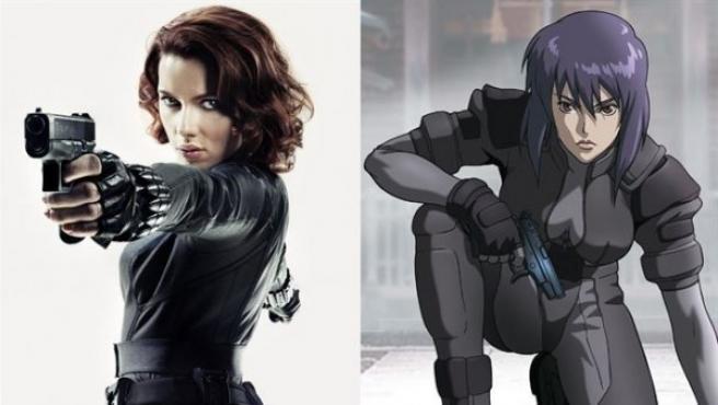 Scarlett Johansson y Motoko Kusanagi, protagonista de 'Ghost in the Shell'.