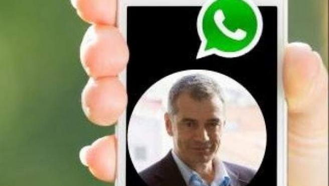 """Toni Cantó abre una cuenta de WhatsApp para """"compartir inquietudes"""" con los valencianos."""