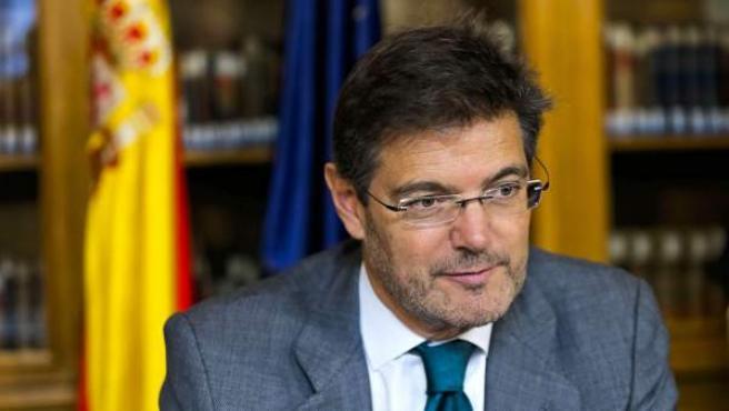 El ministro de Justicia, Rafael Catalá, durante la conferencia sectorial de justicia.