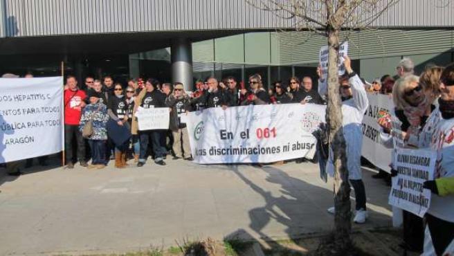 """Movilización en rechazo a la """"mala gestión"""" de la sanidad pública aragonesa"""
