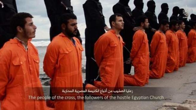 Prisioneros cristianos egipcios del Estado Islámico.