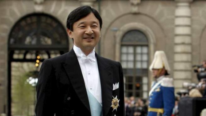El príncipe Naruhito de Japón, en la boda de la princesa heredera Victoria de Suecia y su prometido, Daniel Westling.