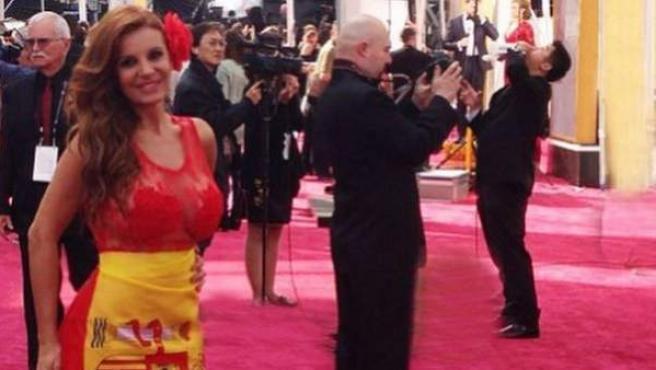 Sonia Monroy, en la alfombra roja de los Oscar.