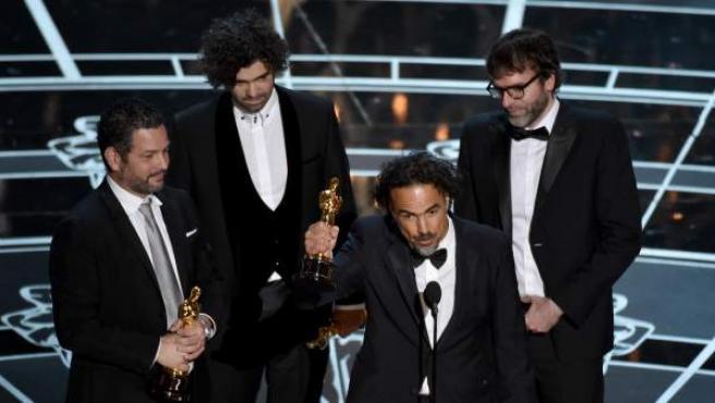 El director mexicano y su película Birdman se llevaron cuatro Oscar en total, incluuyendo el mejor director y la mejor película.