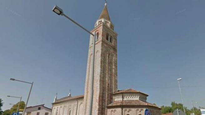 Imagen de una iglesia en Pramaggiore, Italia.