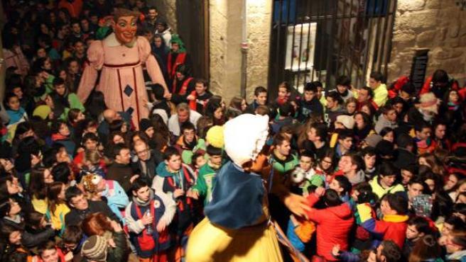 Fiesta de despedida del Carnval de Solsona de este año.