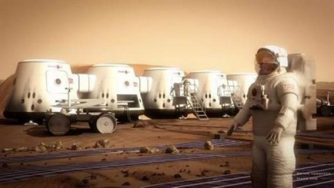 Así sería una colonia en Marte según Mars One.