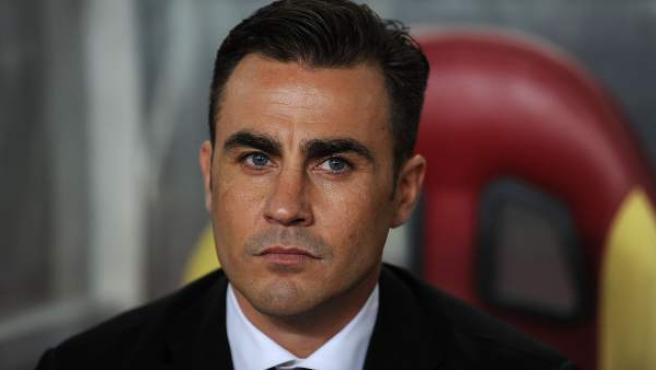 Fabio Cannavaro, en el banquillo como entrenador del Guangzhou Evergrande.