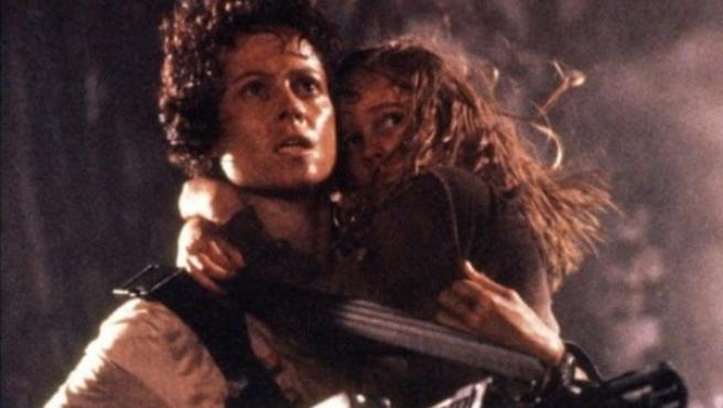 Sigourney Weaver en el papel de Ripley en 'Aliens'.