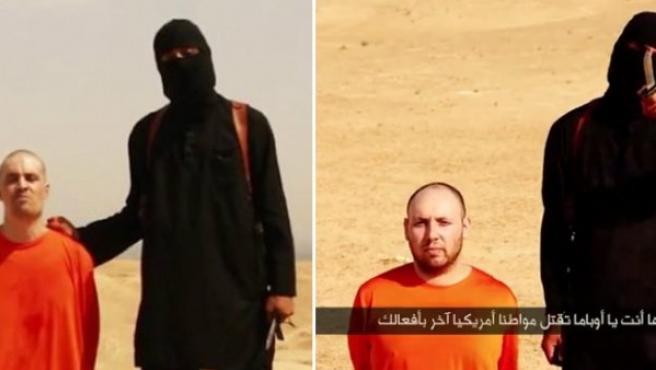Imágenes de los vídeos de las decapitaciones de Foley y Sotloff a manos de yihadistas.